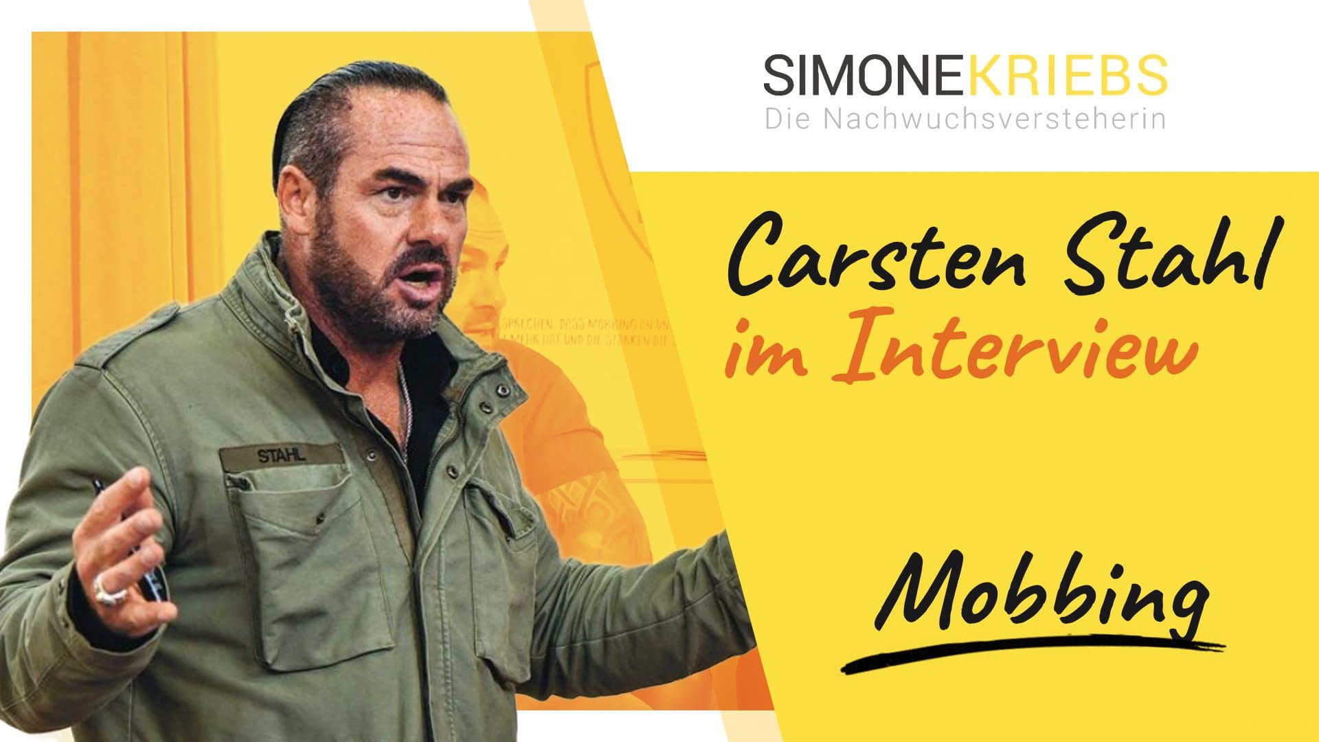 Carsten Stahl im Bildungsspirit-Interview: Mobbing in der Schule