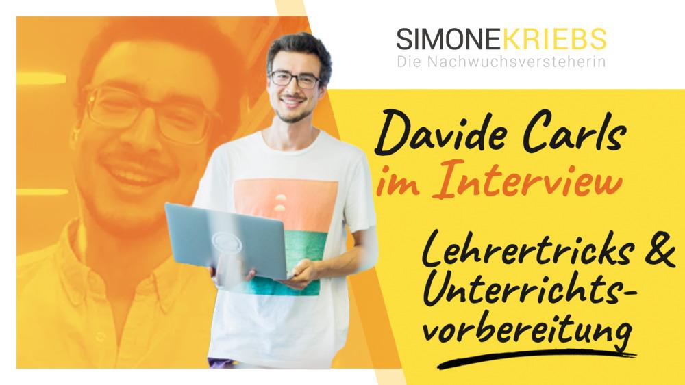 Davide Carls von lehrertricks.com im Bildungsspirit-Interview: Lehrertricks & Unterrichtsvorbereitung